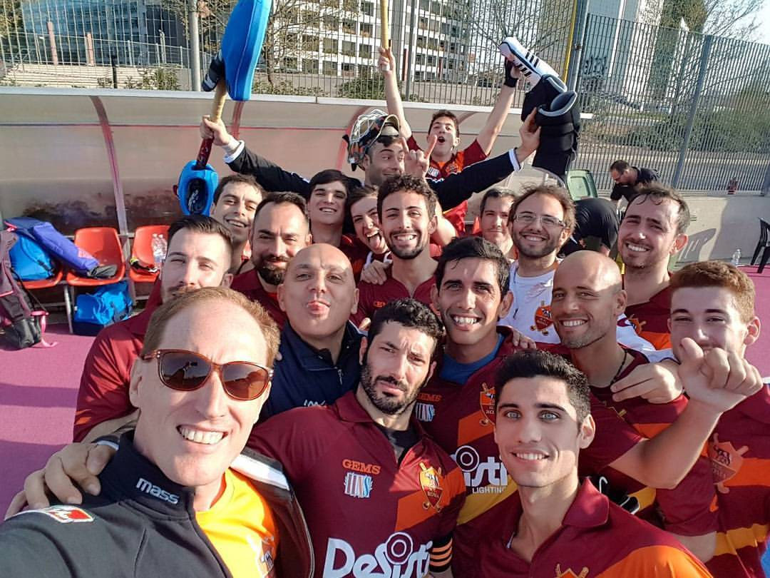 Il Selfie Di Fine Partita Dell'hockey Club Roma