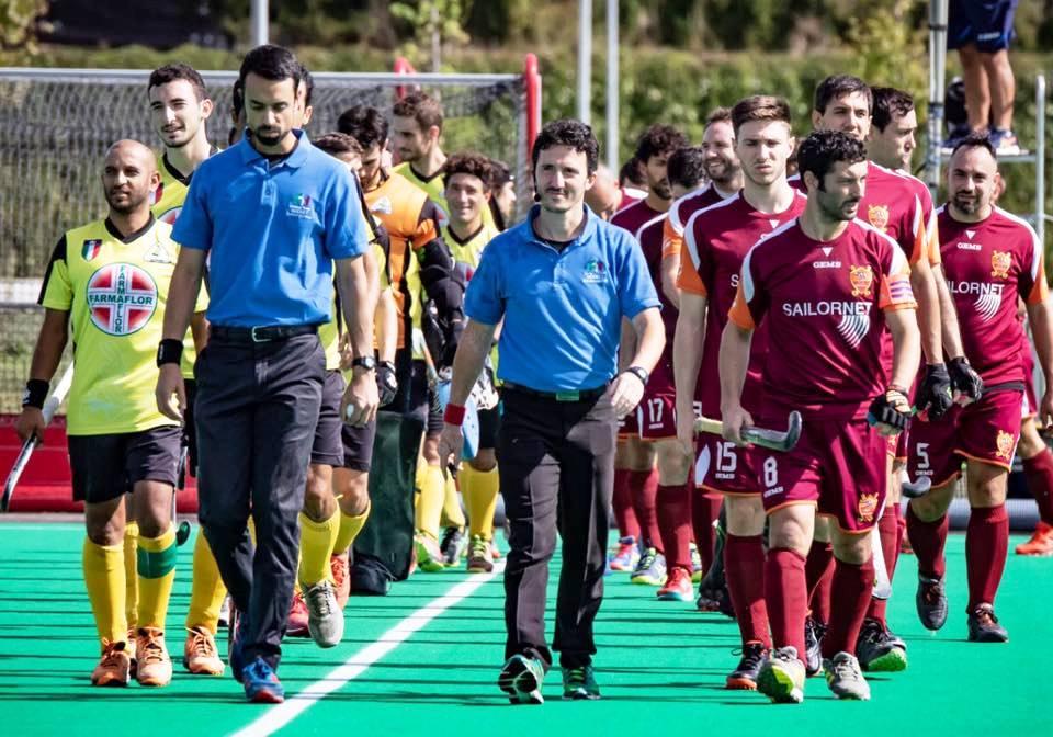 Hc Roma E Hc Bra All'ingresso In Campo ( Foto Padovani )
